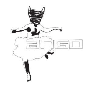 ANGO logo dancing man - white