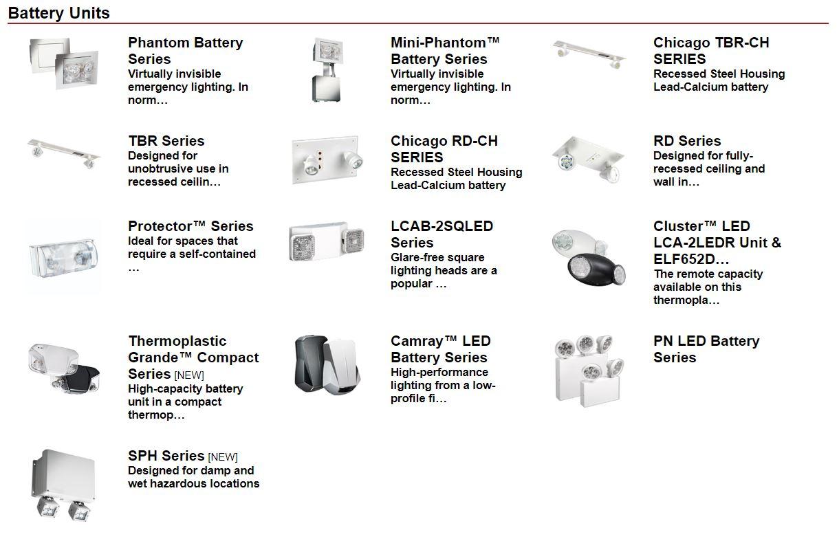 battery units